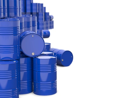 Industrial Background with Blue Barrels Stock Photo - 16457144