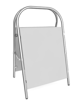 Blank Sandwich Board Isolated on White - 3d illustration illustration