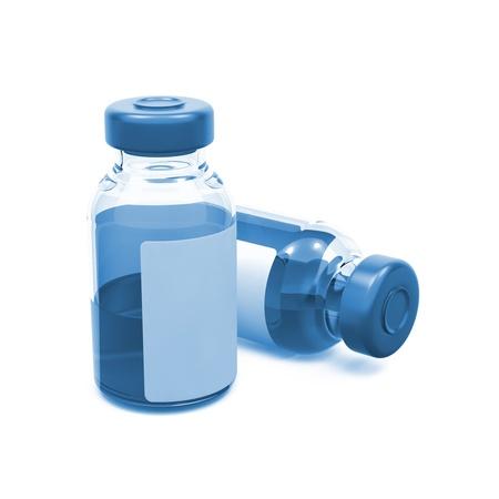 Medical Ampoules Isolated on White Background  Tinted Image Stock Photo - 16589648