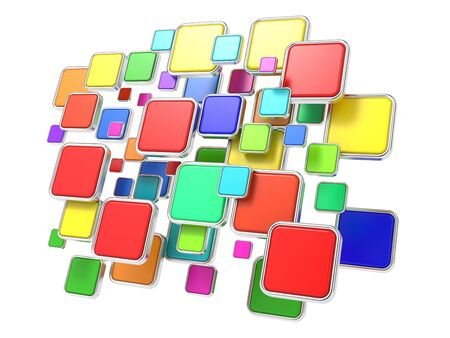 Colorful Cloud of  Empty Program Icons  Software Concept  photo
