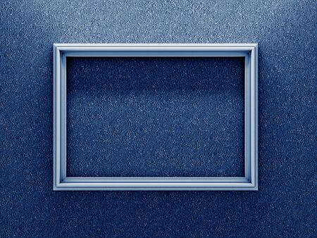 White Photo Frame on Dark Blue Background  photo