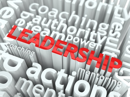 Leader Concept  Inscription of Red Color Located over Text of White Color Stock Photo - 17315346