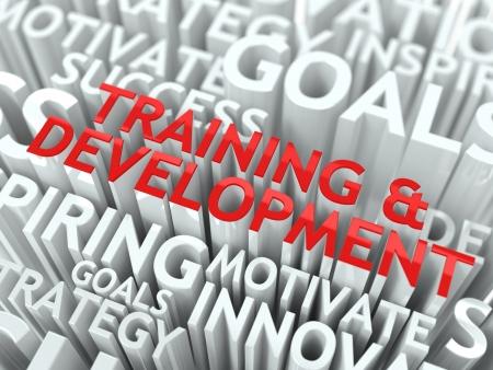 curso de capacitacion: Educaci�n y aprendizaje Concepto La Palabra de color rojo situado sobre texto de color blanco