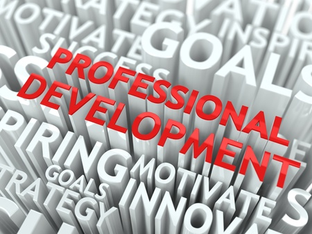 Development Concept  The Word of Red Color Located over Text of White Color Stock Photo - 17597921