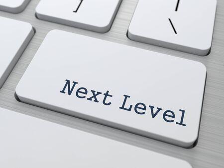 Next Level - Button on Modern Computer Keyboard  Stock Photo