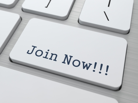 Join Now - Button on Modern Computer Keyboard Stock Photo - 17598747