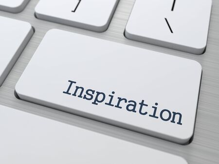 key words  art: Inspiration Concept  Button on Modern Computer Keyboard with Word Partners on It  Stock Photo