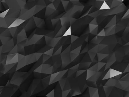 ray tracing: Abstract Black Crystal Structure Background  Stock Photo