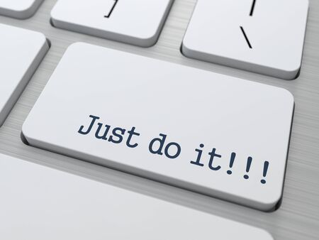 Just Do It Concept Button on Modern Computer Keyboard with Word Partners on It Reklamní fotografie