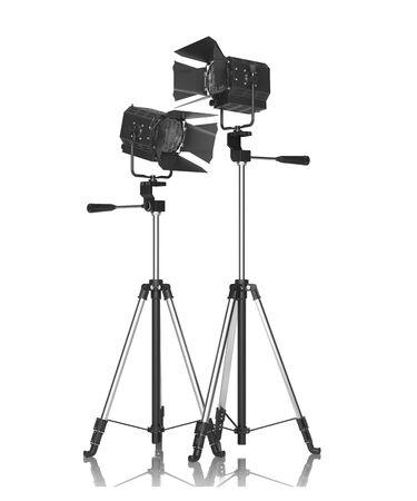 monolight: Studio Lighting Isolated on White  Stock Photo