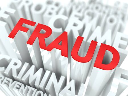 Background Design fraude infraction criminelle Concept Word Cloud