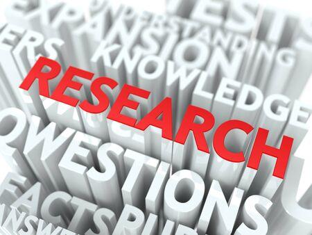 searh: Research Background Design  Scientific Research Word Cloud Concept