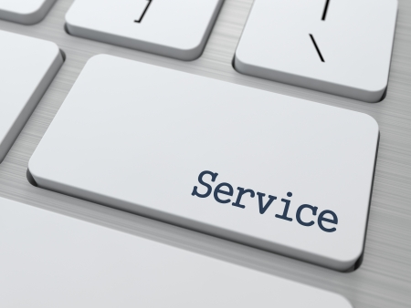 Service Button on Modern Computer Keyboard with Word Partners on It  Stock Photo - 17953534