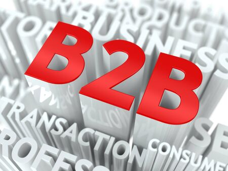 terms: Concept Featuring Business to Business Terms  B2B Word Cloud Concept  Stock Photo