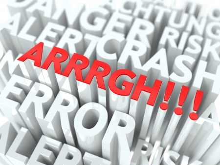 ARRRGH Background Design  The Word Cloud Concept  photo