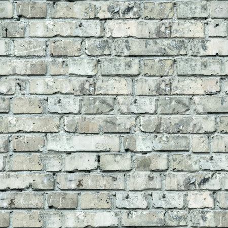 Grey Old Brick Wall  Seamless Tileable Texture  photo