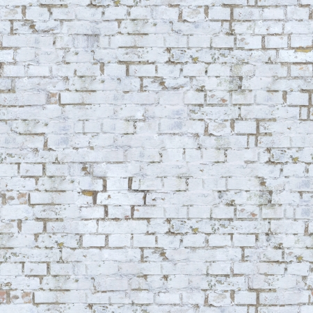 painted wall: Old White Brick Wall  Seamless Tileable Texture