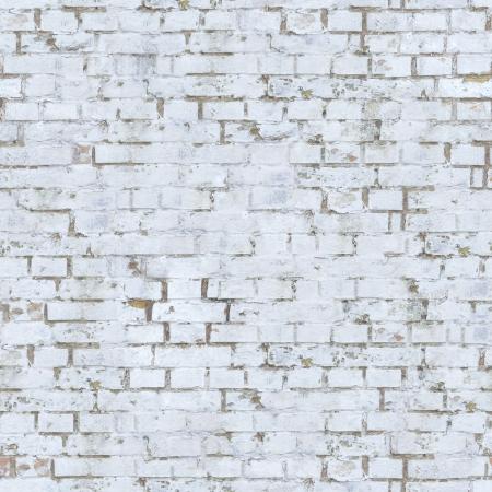 white brick wall: Old White Brick Wall  Seamless Tileable Texture