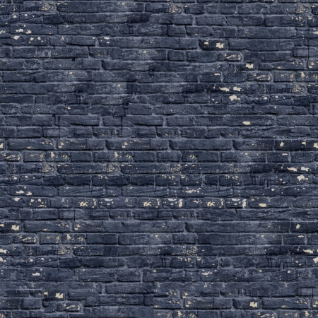Black Brick Wall with Cracks, Dirt Spots  Seamless Tileable Texture  photo