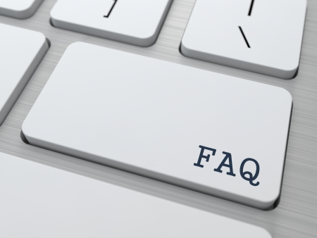 FAQ Concept  Button on Modern Computer Keyboard with Word FAQ on It  Stock Photo - 18046669