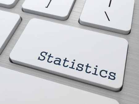 Statistics Concept  Button on Modern Computer Keyboard with Word Statistics on It  photo