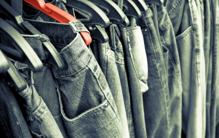Jeans Tinted Background  Stock Photo - 18216006