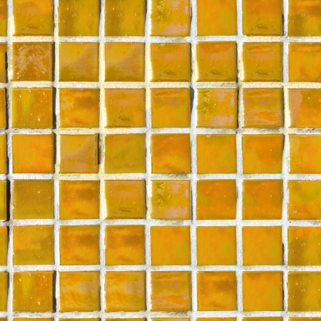 Yellow Tile Wall  Seamless Tileable Texture  photo