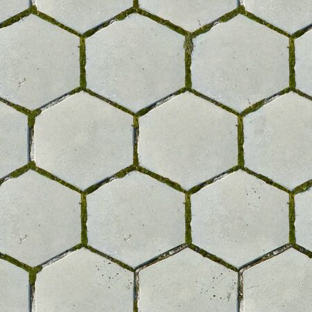Old Hexagonal Paving Slabs  Seamless Tileable Texture  photo