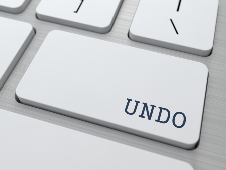 undo: Undo  Button on Modern Computer Keyboard with Word Partners on It  Stock Photo