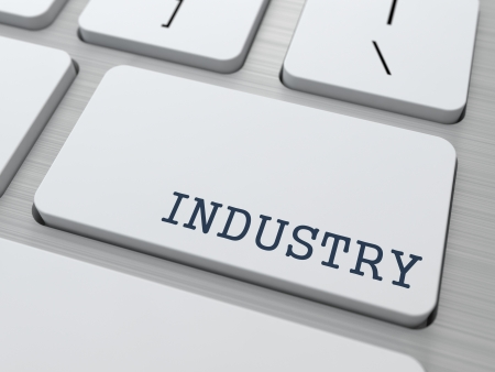 Industry Concept  Button on Modern Computer Keyboard with Word Partners on It  photo
