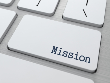 team vision: Mission Concept  Button on Modern Computer Keyboard with Word Partners on It