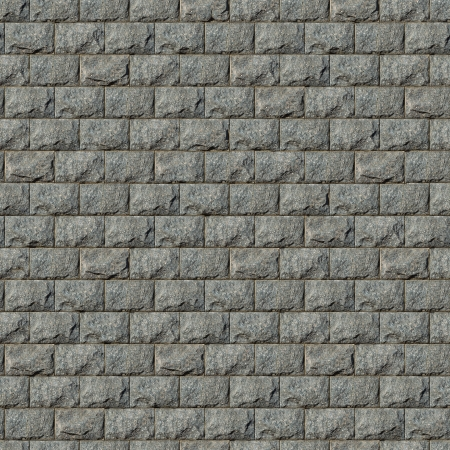 Seamless Tileable Texture of Wall from Granite Blocks photo