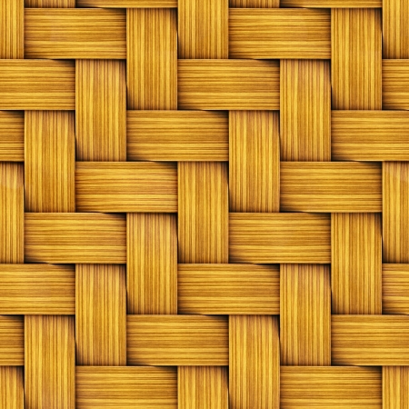 Seamless Tileable Texture of Wooden Rattan  photo