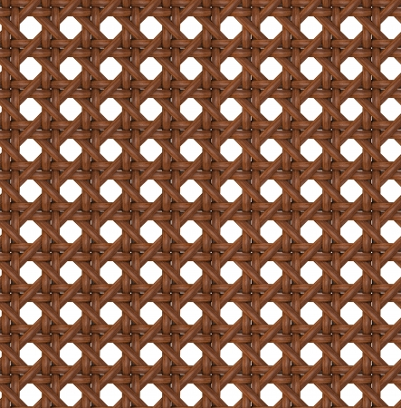 Seamless Tileable Texture of Wooden Brown Rattan  photo