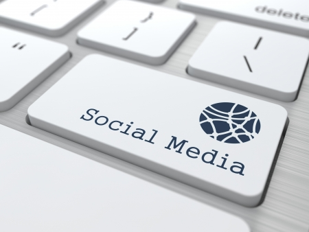 Social Media Concept  Button on Modern Computer Keyboard with Word Partners on It  Stock Photo - 19328849