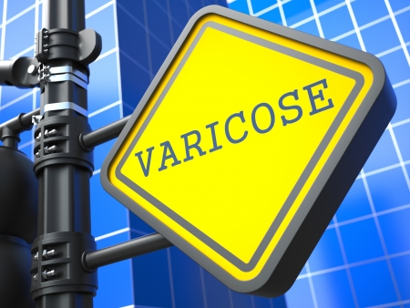 Varicose Roadsign  Medical Concept  Background for Your Blog or Publication  photo