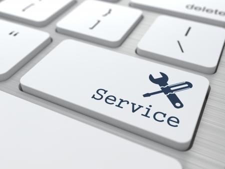 Customer Service Concept  Button on Modern Computer Keyboard  Stock Photo