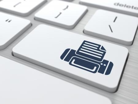 Print  Button on Modern Computer Keyboard  Stock Photo - 19665914