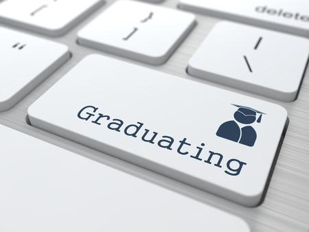 Education Concept   Graduatting  Button on Modern Computer Keyboard  photo