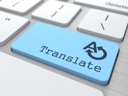 Vertalen Concept Vertalen Button op moderne computer toetsenbord