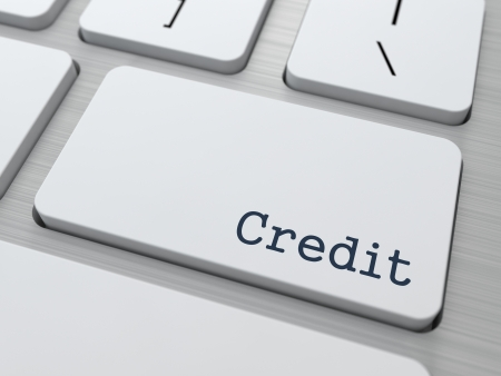 Credit Concept. Button on Modern Computer Keyboard. photo