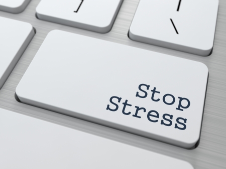 Stress Concept. Button on Modern Computer Keyboard. photo