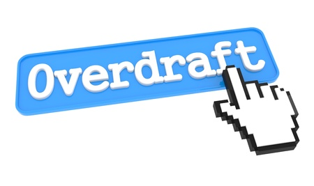 overdraft: Overdraft Button with  Hand Shaped mouse Cursor