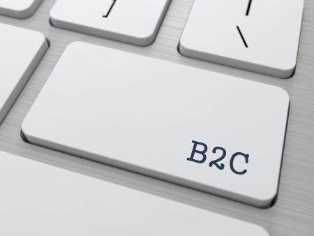 b2c: B2C - Business Concept  Button on Modern Computer Keyboard