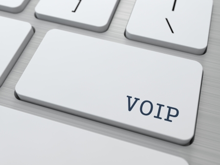VOIP Concept. Button on Modern Computer Keyboard. photo