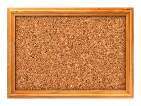 Blank Cork Bulletin or Message Board  3D Render  photo