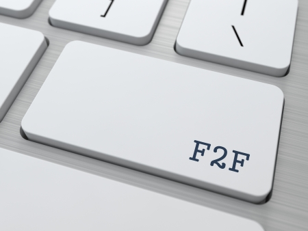 key words  art: F2F - Face To Face  Internet Concept  Button on Modern Computer Keyboard