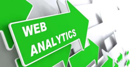 Web Analytics - Technology Concept  Green Arrow with  Webinar  slogan on a grey background  3D Render Stock Photo - 21362212