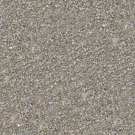 fulvous: Seamless Texture of Country Road of Small Gravel  Stock Photo