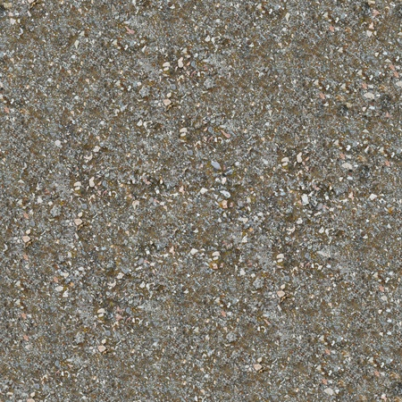 Seamless Texture of Weathered, Mossy Concrete Surface with Protruding Stones. photo